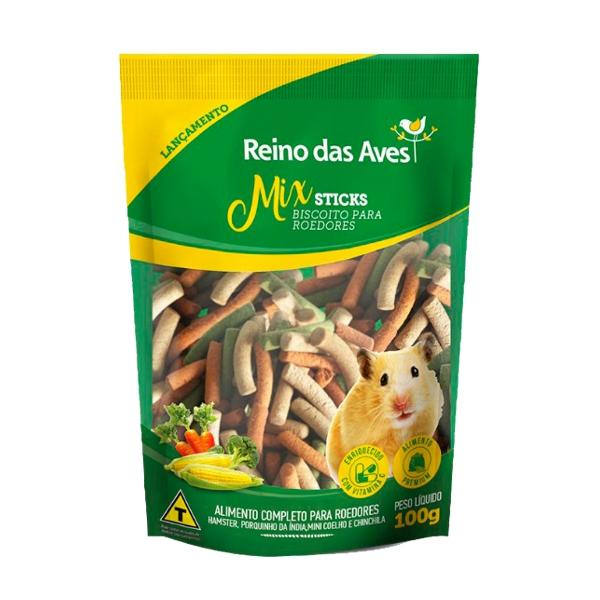 Mix Sticks Biscoito para Roedores 100g
