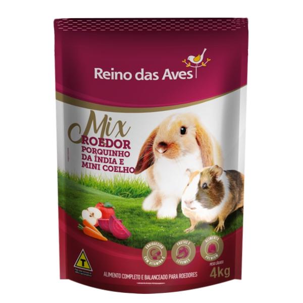 Porquinho da Índia e Mini Coelho Mix Roedor 4kg